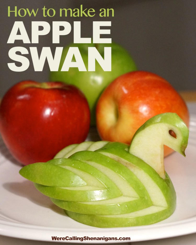 how-to-make-an-Apple-Swan