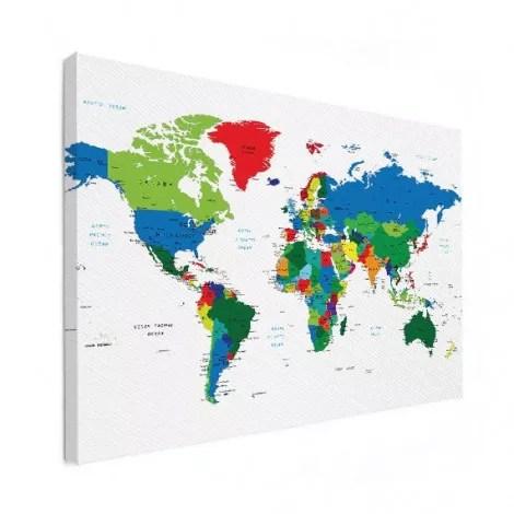 Wereldkaart kleur