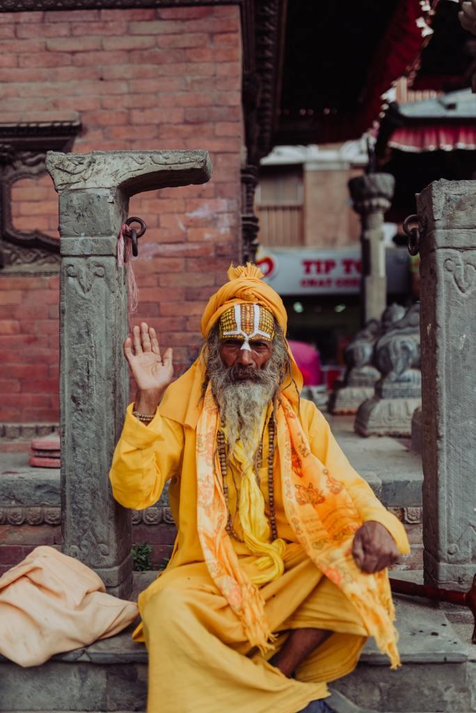 Kathmandu - Monnik in Nepal
