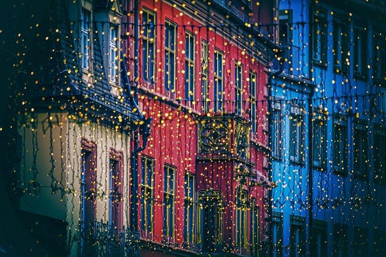 Kerstverlichting in Londen