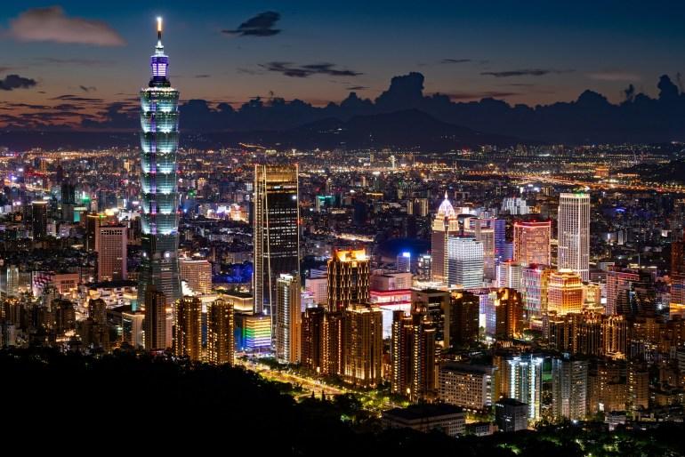 Taipei, de hoofdstad van Taiwan