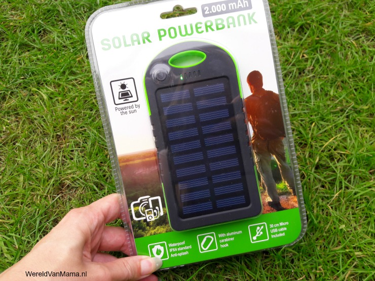 Solar powerbank van de Action