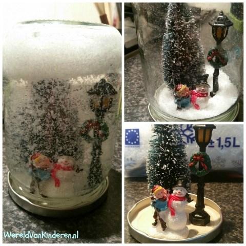Sneeuwbol maken voor kerst
