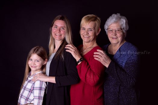 4 generaties fotoshoot