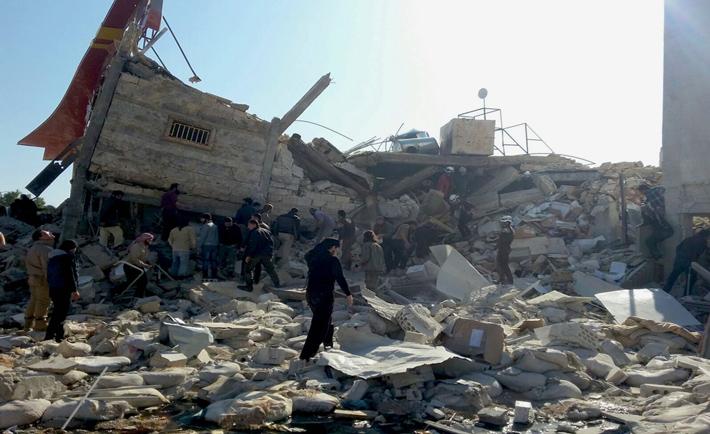 ospedale msf distrutto in siria