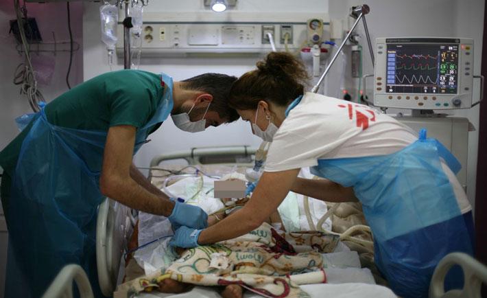 la nuova unità di terapia intensiva aperta da MSF nel centro traumatologico a Sulaymaniyya (nord dell'Iraq). Copyright: Sonia Balleron