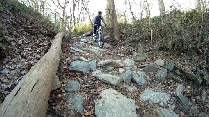 Riding one of the rock gardens at Wiss in Philly!