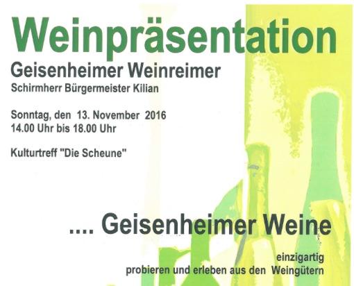 Geisenheimer Weinpräsentation