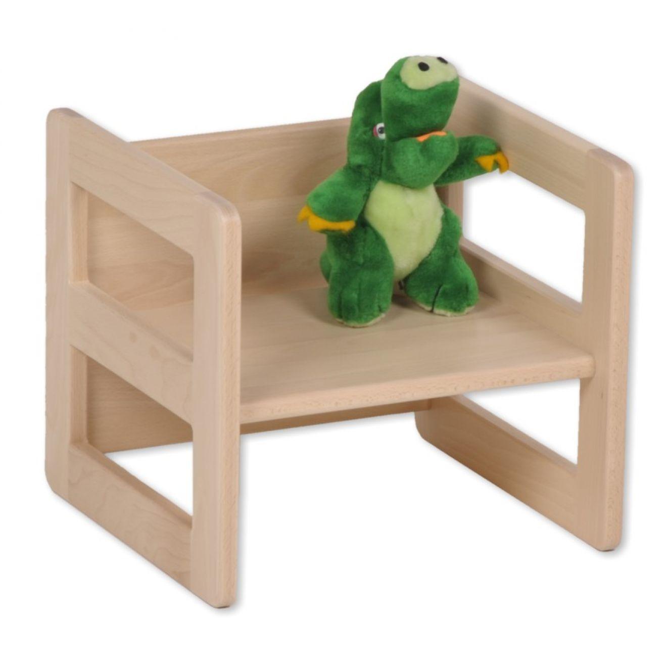 Wendehocker mitwachsend Tisch aus Holz Kinderhocker Kinder ...