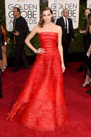 Allison Williams attends the 72nd annual Golden Globe Awards