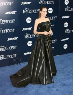 Angelina Jolie in Atelier Versace at the Maleficent Premier