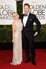 Anna Faris and Chris Prat attends the 72nd annual Golden Globe Awards