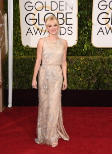 Anna Faris attends the 72nd annual Golden Globe Awards