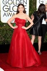 Catherine Zeta Jones attends the 72nd annual Golden Globe Awards