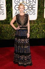 Claire Danes attends the 72nd annual Golden Globe Awards