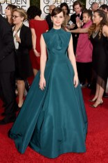Felicity Jones attends the 72nd annual Golden Globe Awards