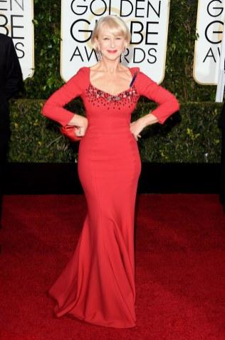 Helen Mirren attends the 72nd annual Golden Globe Awards