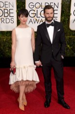 Jamie Dornan and Amelia Warner attends the 72nd annual Golden Globe Awards