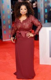 Oprah in February 2014 at the BAFTA Awards