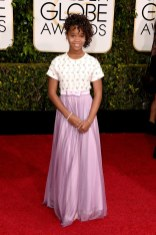 Quvenzhane Wallis attends the 72nd annual Golden Globe Awards