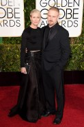 Robin Wright and Ben Foster attends the 72nd annual Golden Globe Awards