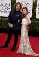 T J Miller and Kate Gorney attends the 72nd annual Golden Globe Awards