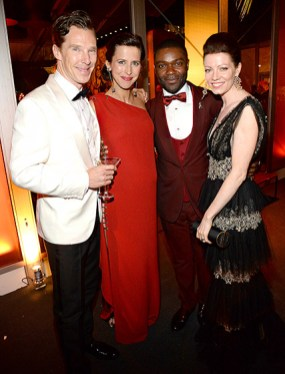 Julianne Moore, Beyonce, Jay Z, Jared Leto, and Lupita Nyong'o at the Vanity Fair and Governors Ball afterparties