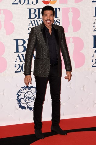 Lionel Richie at the 2015 Brit Awards