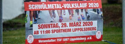 Plakat mit Informationen zum Schwülmetal Volkslauf