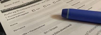 Antrag Glasfaser Wesertal mit Stift
