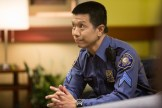 """GRIMM -- """"Thanks for the Memories"""" Episode 401 -- Pictured: Reggie Lee as Sgt. Wu -- (Photo by: Scott Green/NBC)"""