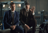"""GOTHAM: Detectives James Gordon (Ben McKenzie, L) and Harvey Bullock (Donal Logue, R) learn information about a case in the """"Harvey Dent"""" episode of GOTHAM airing Monday, Nov. 17 (8:00-9:00 PM ET/PT) on FOX. ©2014 Fox Broadcasting Co. Cr: Jessica Miglio/FOX"""