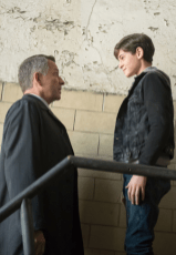 """GOTHAM: Bruce Wayne (David Mazouz, R) is reunited with Alfred (Sean Pertwee, L) in the """"Lovecraft"""" episode of GOTHAM airing Monday, Nov. 24 (8:00-9:00 PM ET/PT) on FOX. ©2014 Fox Broadcasting Co. Cr: Jessica Miglio/FOX"""