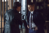 """GOTHAM: Detectives James Gordon (Ben McKenzie, R) and Harvey Bullock (Donal Logue, L) disagree about ethics in the """"The Mask"""" episode of GOTHAM airing Monday, Nov. 10 (8:00-9:00 PM ET/PT) on FOX. ©2014 Fox Broadcasting Co. Cr: Jessica Miglio/FOX"""