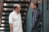 """SONS OF ANARCHY -- """"Red Rose"""" -- Episode 712 -- Airs Tuesday, December 2, 10:00 pm e/p) -- Pictured: (L-R) Dayton Callie as Wayne Unser, Charlie Hunnam as Jax Teller. CR: Byron Cohen/FX"""