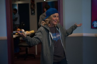 "PARKS AND RECREATION -- ""New Slogan"" Episode 616 -- Pictured: Amy Poehler as Leslie Knope -- (Photo by: Colleen Hayes/NBC)"