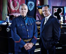 DOMINION -- Season:1 -- Pictured: (l-r) Alan Dale as General Riesen, Anthony Stewart Head as Senator David Whele -- (Photo by: Gavin Bond/Syfy)