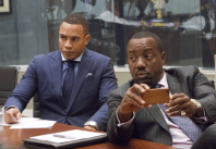 "EMPIRE: Andre (Trai Byers, L) and Vernon (Malik Yoba, R) attend a meeting in the ""Outspoken King"" episode of EMPIRE airing Monday, Jan. 14 (9:00-10:00 PM ET/PT) on FOX. ©2014 Fox Broadcasting Co. CR: Chuck Hodes/FOX"