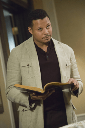 "EMPIRE: Lucious (Terrence Howard) addresses his family in the ""The Devil Quotes Scripture"" episode airing Wednesday, Jan. 21 (9:00-10:00 PM ET/PT) on FOX. ©2014 Fox Broadcasting Co. CR: Chuck Hodes/FOX"