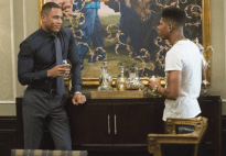 """EMPIRE: Andre (Trai Byers, L) and Hakeem (Bryshere Gray, R) have a conversation in the """"The Devil Quotes Scripture"""" episode airing Wednesday, Jan. 21 (9:00-10:00 PM ET/PT) on FOX. . ©2014 Fox Broadcasting Co. CR: Chuck Hodes/FOX"""
