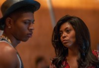 "EMPIRE: Cookie (Taraji P. Henson, R) gives Hakeem (Bryshere Gray, L) some advice in the ""False Imposition"" episode of EMPIRE airing Wednesday, Jan. 28 (9:00-10:00 PM ET/PT) on FOX. ©2014 Fox Broadcasting Co. CR: Matt Dinnerstein/FOX"
