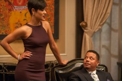 """EMPIRE: Anika (Grace Gealey, L) and Lucious (Terrence Howard, R) have a chat in the """"False Imposition"""" episode of EMPIRE airing Wednesday, Jan. 28 (9:00-10:00 PM ET/PT) on FOX. ©2014 Fox Broadcasting Co. CR: Matt Dinnerstein/FOX"""