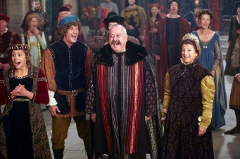 "GALAVANT - ""Two Balls"" (8:00-8:30 p.m., ET) - A visit to Sid's hometown reveals he has not been truthful about his career path. While Galavant and Isabella back up Sid's stories, King Richard decides to throw a ball to cheer up the people of Valencia. The highly-anticipated comedy extravaganza, ""Galavant,"" will air its third and fourth half-hour episodes back to back on SUNDAY, JANUARY 11 (8:00-9:00 p.m., ET) on the ABC Television Network. (ABC/Todd Antony) STANLEY TOWNSEND, GENEVIEVE ALLENBURY"