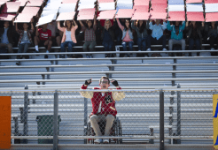 """GLEE: Alumni Artie (Kevin McHale) returns to McKinley High in the second part of the special two-hour """"Loser Like Me/Homecoming"""" Season Premiere episode of GLEE on Friday, Jan. 9 (8:00-10:00 PM ET/PT) on FOX. ©2014 Fox Broadcasting Co. CR: Adam Rose/FOX"""
