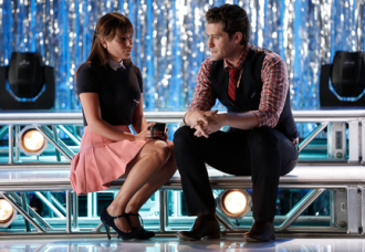 "GLEE: Rachel (Lea Michele, L) seeks advice from Will (Matthew Morrison, R) in the first part of the special two-hour ""Loser Like Me/Homecoming"" Season Premiere episode of GLEE on Friday, Jan. 9 (8:00-10:00 PM ET/PT) on FOX. ©2014 Fox Broadcasting Co. CR: Tyler Golden/FOX"