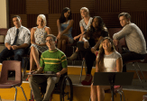 """GLEE: Glee Club alumnaes return to McKinley High in the second part of the special two-hour """"Loser Like Me/Homecoming"""" Season Premiere episode of GLEE on Friday, Jan. 9 (8:00-10:00 PM ET/PT) on FOX. Pictured L-R: Mark Salling, Dianna Agron, Naya Rivera, Kevin McHale, Heather Morris, Amber Riley, Jenna Ushkowitz and Chord Overstreet. ©2014 Fox Broadcasting Co. CR: Jennifer Clasen/FOX"""