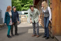 """SHOW: The Librarians, """"And the Fables of Doom""""; PHOTOGRAPHER SCOTT PATRICK GREEN; PERSONALITIES CHRISTIAN KANE, Rebecca Romijn, LINDY BOOTH, JOHN KIM"""