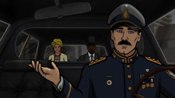 """ARCHER: Episode 2, Season 6 """"Three to Tango"""" (Airing Thursday, January 15, 10:00 PM e/p) An agent from the past has a hand creating tension between Archer and Lana. Pictured: (L-R) Lana Kane (voice of Aisha Tyler), Conway Stern (voice of Coby Bell), Sterling Archer (voice of H. Jon Benjamin). CR: FX"""