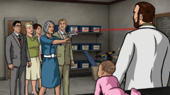 """ARCHER: Episode 2, Season 6 """"Three to Tango"""" (Airing Thursday, January 15, 10:00 PM e/p) An agent from the past has a hand creating tension between Archer and Lana. Pictured: (L-R) Cyril Figgis (voice of Chris Parnell), Pam Poovey (voice of Amber Nash), Malory Archer (voice of Jessica Walter), Ray Gillette (voice of Adam Reed), Dr. Krieger (voice of Lucky Yates). CR: FX"""