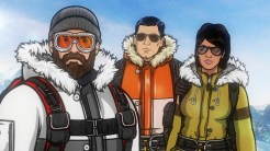 "ARCHER: Episode 3, Season 6 ""The Archer Sanction"" (Airing Thursday, January 22, 10:00 PM e/p) Archer, Lana and Ray climb their way to the top of an assassin's hit list. Pictured: (L-R) Patrick ""Crash"" McCarran (voice of Rob Huebel), Sterling Archer (voice of H. Jon Benjamin), Lana Kane (voice of Aisha Tyler). CR: FX"